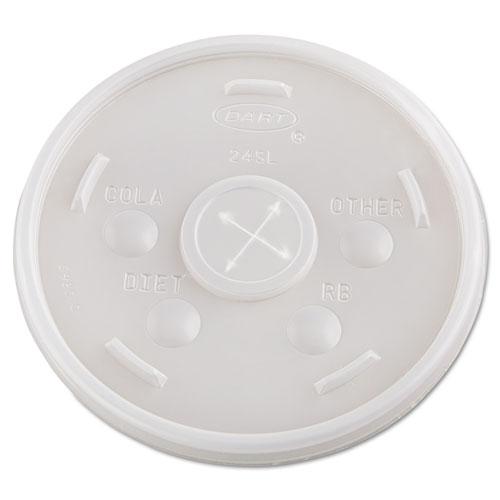 Plastic Cold Cup Lids, 24oz, Translucent, 500/Carton 24SL05