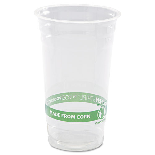 GreenStripe Renewable & Compostable Cold Cups - 24oz., 50/PK, 20 PK/CT EPCC24GS
