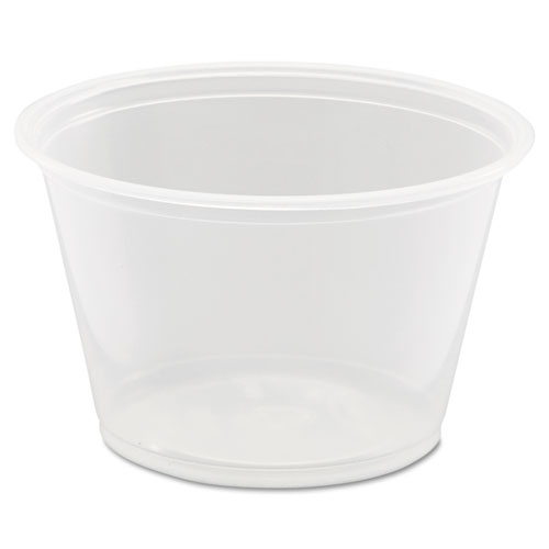 Conex Complements Portion/Medicine Cups, 4oz, Clear, 125/Bag, 20 Bags/Carton | by Plexsupply