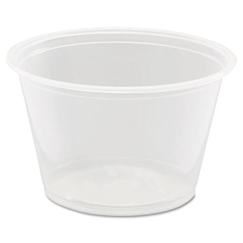 Conex Complements Polypropylene Portion/Medicine Cups, 4 oz, Clear, 125/Bag, 20 Bags/Carton