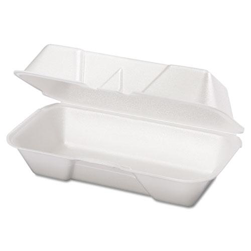 Foam Hoagie Container, 8 7/16 x 4 3/16 x 3 1/16, White, 125/Bag, 4 Bags/Carton