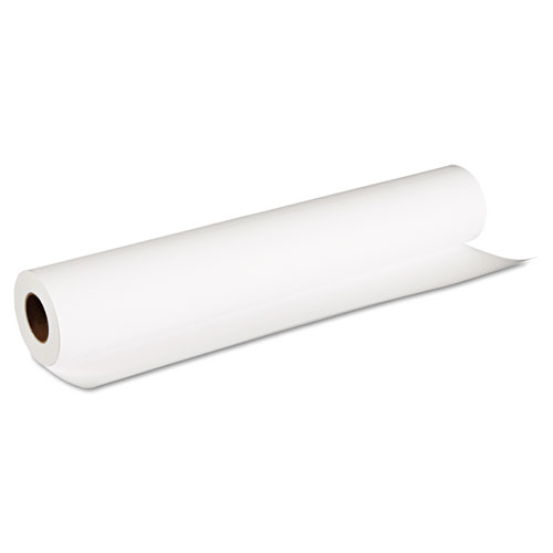 Matte Coated Paper Roll, 2 Core, 8 mil, 24 x 100 ft, Matte White