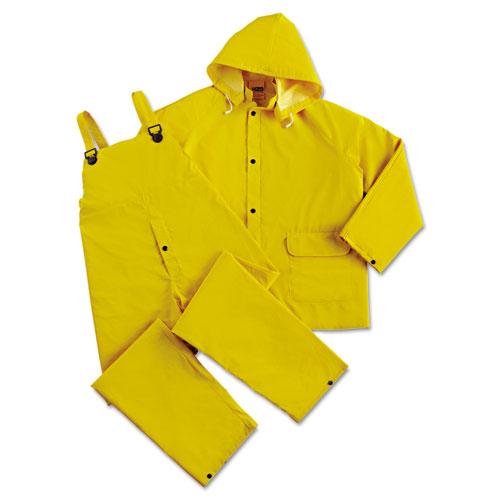 Rainsuit, PVC/Polyester, Yellow, Large