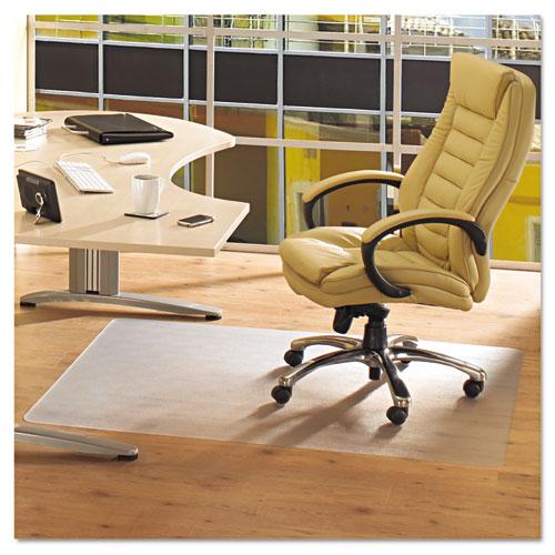 Floortex® Cleartex Advantagemat Phthalate Free PVC Chair Mat for Hard Floors, 53 x 45