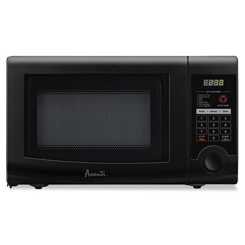 0.7 Cubic Foot Capacity Microwave Oven, 700 Watts, Black | by Plexsupply