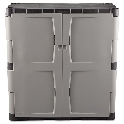 Double Door Storage Cabinet Base 36w X 18d X 36h Grayblack