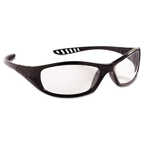 V40 HellRaiser Safety Glasses, Black Frame, Clear Anti-Fog Lens