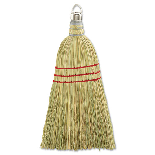 Whisk Broom, Corn Fiber Bristles, Yellow, 12/Carton | by Plexsupply