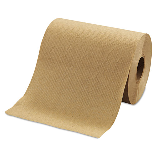 "Hardwound Roll Towels, 8"" x 350 ft, Brown, 12 Rolls/Carton 