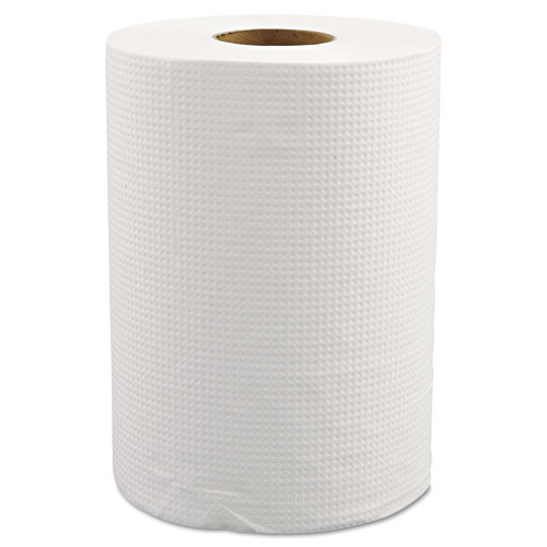 "Morcon Paper Hardwound Roll Towels, 8"" x 350ft, White, 12 Rolls/Carton"