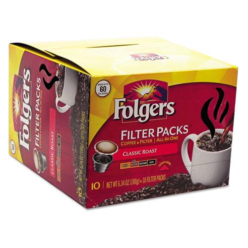 Folgers® Coffee Filter Packs, Classic Roast, 60/Carton