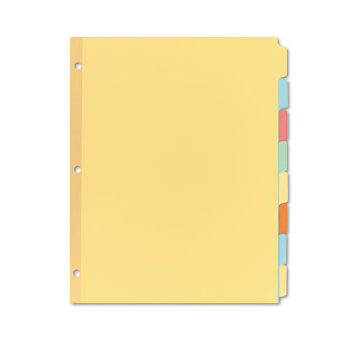 Write & Erase Plain-Tab Paper Dividers, 8-Tab, Letter, Multicolor, 24 Sets | by Plexsupply