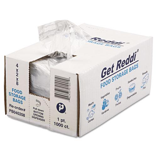 "Food Bags, 16 oz, 0.68 mil, 4"" x 8"", Clear, 1,000/Carton"
