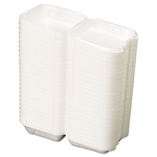 Snap It Foam Container, 8 1/4 x 8 x 3, White, 100/Bag, 2 Bags/Carton