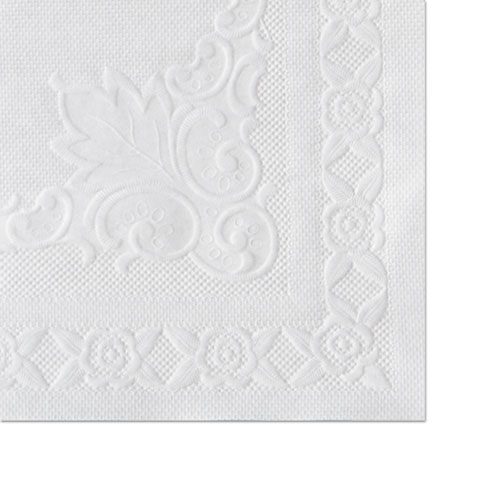 Classic Embossed Straight Edge Placemats, 10 x 14, White, 1,000/Carton | by Plexsupply