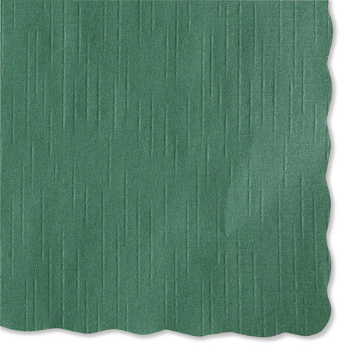 Solid Color Scalloped Edge Placemats, 9.5 x 13.5, Hunter Green, 1,000/Carton | by Plexsupply