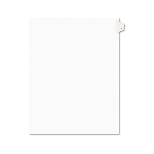 Preprinted Legal Exhibit Side Tab Index Dividers, Avery Style, 10-Tab, 1, 11 x 8.5, White, 25/Pack | by Plexsupply