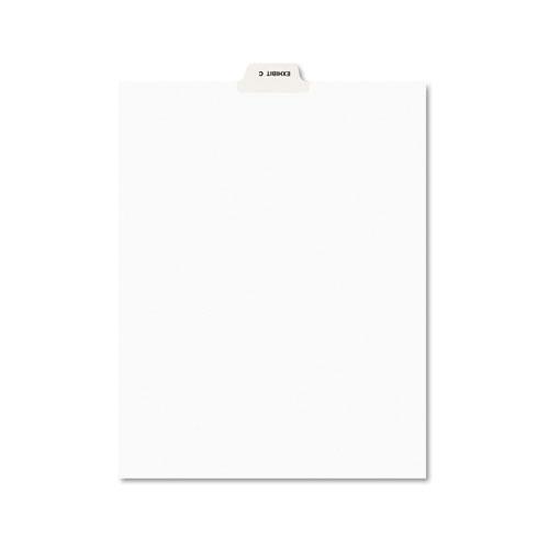 Avery-Style Preprinted Legal Bottom Tab Divider, Exhibit C, Letter, White, 25/PK | by Plexsupply