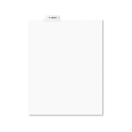 Avery-Style Preprinted Legal Bottom Tab Divider, Exhibit D, Letter, White, 25/PK | by Plexsupply