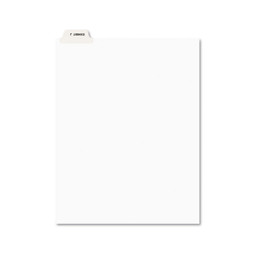 Avery-Style Preprinted Legal Bottom Tab Divider, Exhibit J, Letter, White, 25/PK | by Plexsupply