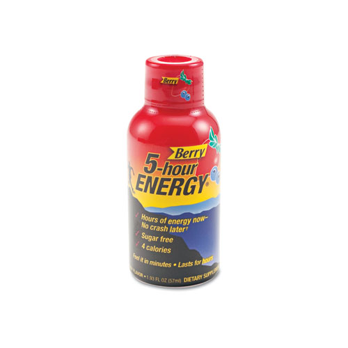5-hour ENERGY® Energy Drink, Berry, 1.93oz Bottle, 12/Pack