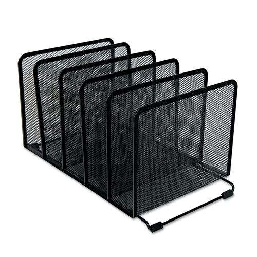 Deluxe Mesh Stacking Sorter, 5 Sections, Letter to Legal Size Files, 14.63 x 8.13 x 7.5, Black