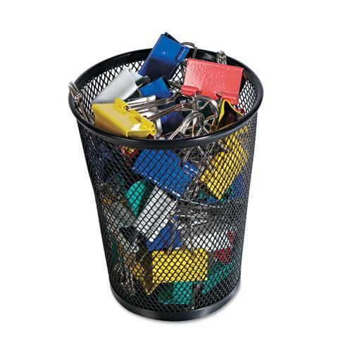 Jumbo Mesh Pencil Cup Black Zerbee