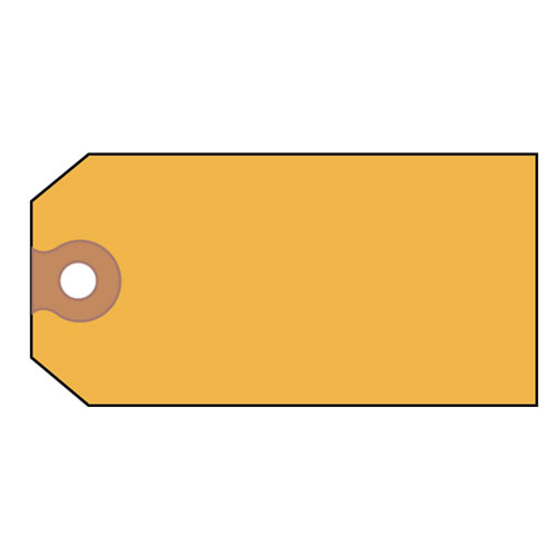 Unstrung Shipping Tags, Paper, 4 3/4 x 2 3/8, Yellow, 1,000/Box