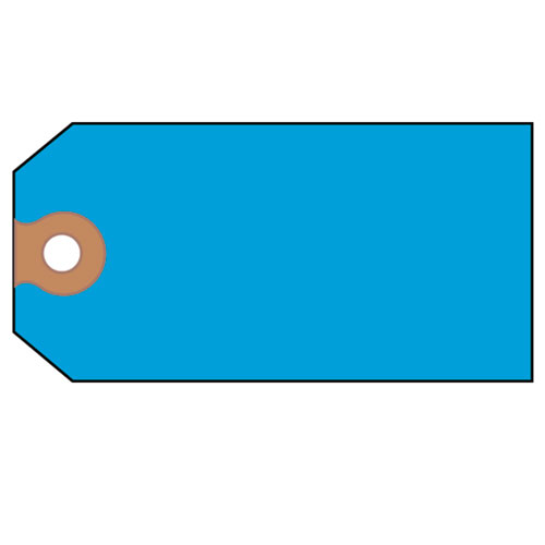 Unstrung Shipping Tags, Paper, 4 3/4 x 2 3/8, Blue, 1,000/Box | by Plexsupply