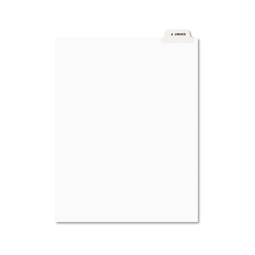 Avery-Style Preprinted Legal Bottom Tab Dividers, Exhibit P, Letter, 25/Pack | by Plexsupply