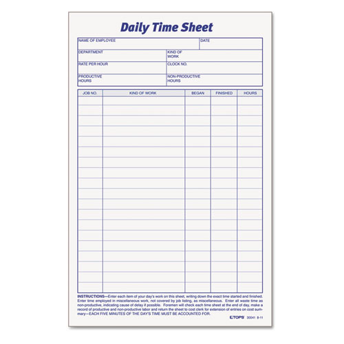 15 Sample Daily Timesheet Templates to Download
