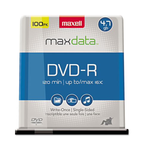 DVD-R Discs, 4.7GB, 16x, Spindle, Gold, 100/Pack | by Plexsupply