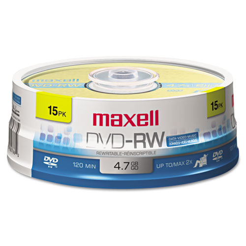 DVD-RW Discs, 4.7GB, 2x, Spindle, Gold, 15/Pack | by Plexsupply