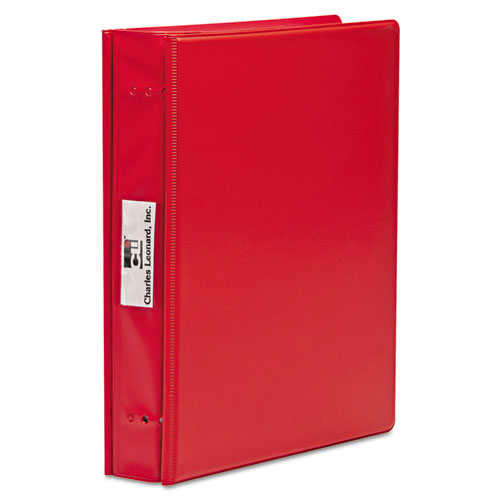 """VariCap Expandable Binder, 2 Posts, 6"""" Capacity, 11 x 8.5, Red 