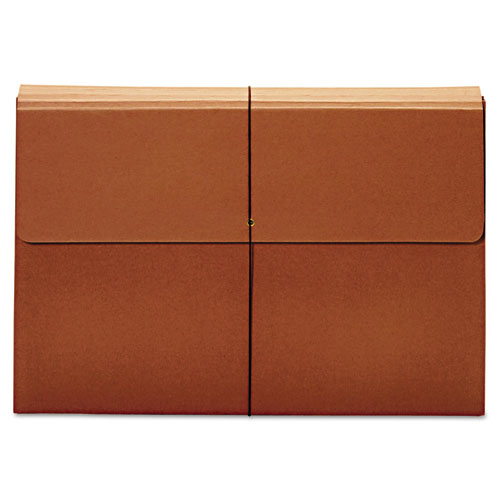 """Expanding Wallet, 3.5"""" Expansion, 1 Section, Tabloid Size, Brown 