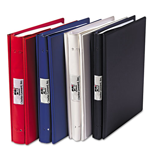 "Charles Leonard® VariCap Expandable Binder, 2 Posts, 6"" Capacity, 11 x 8.5, Black"