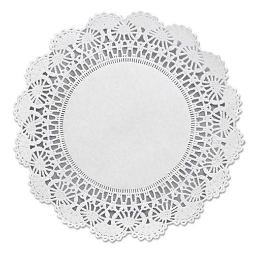 "Cambridge Lace Doilies, Round, 8"", White, 1000/Carton 
