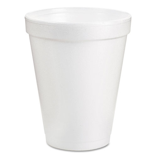 Drink Foam Cups, 8oz, White, 25/Pack 8J8BG