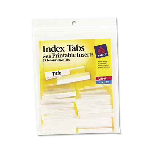 avery print on tabs template - insertable index tabs with printable inserts 1 1 2 clear