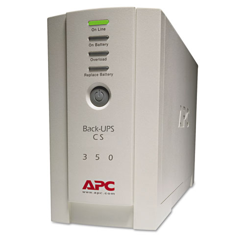 BK350 Back-UPS CS Battery Backup System, 6 Outlets, 350 VA, 1020 J | by Plexsupply