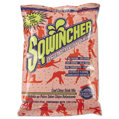 Sqwincher® Powder Pack Concentrated Activity Drink, Fruit Punch, 23.83 oz Packet, 32/Carton