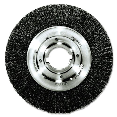 Trulock TLM-10 Narrow-Face Crimped Wire Wheel, 10in. dia, .014 Wire, Arbor Dia: 2in. 06160