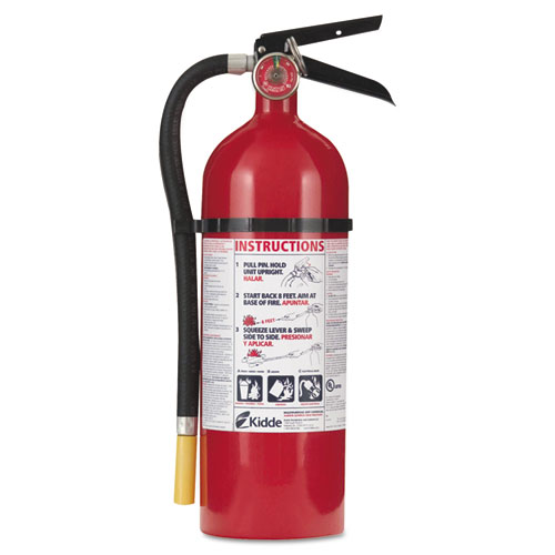 ProLine Pro 5 Multi-Purpose Dry Chemical Fire Extinguisher, 8.5lb, 3-A, 40-B:C | by Plexsupply