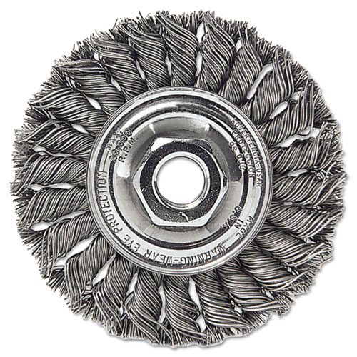 Dualife STA-4 Twist Knot Wire Wheel, 4in. dia, .014 Wire 13106
