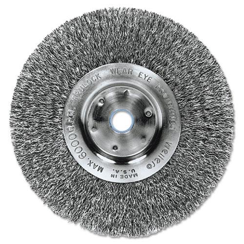 Trulock TLN-6 Narrow-Face Crimped Wire Wheel, 6in. dia, .014 Wire 01075