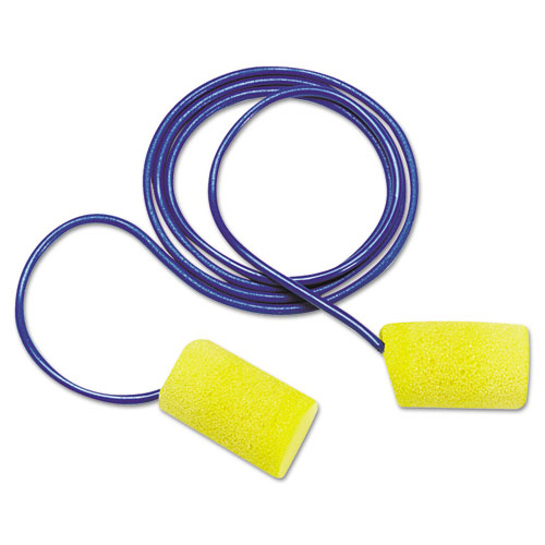 3M™ E-A-R Classic Foam Earplugs, Metal Detectable, Corded, Poly Bag