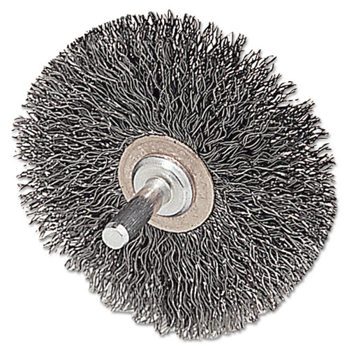 CFX-2 Stem-Mounted Crimped Wire Wheel, 2in. dia, Stainless Steel, .0118 Wire 17611