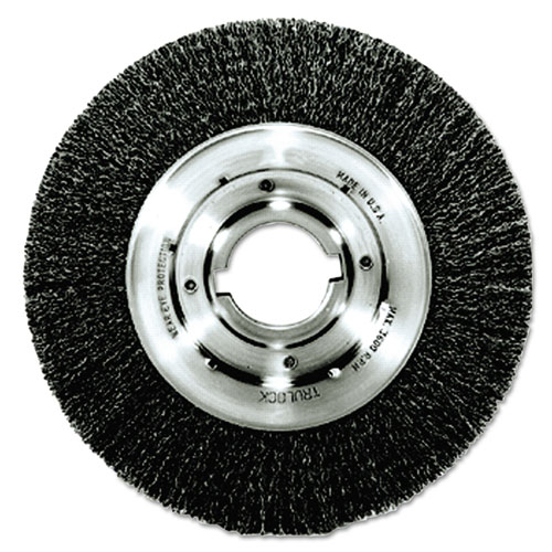 Trulock TLN-8 Narrow-Face Crimped Wire Wheel, 8in. dia, .014 Wire, Arbor Dia: 2in. 06120