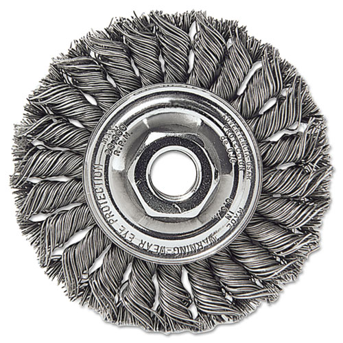 Dualife ST-8 Twist Knot Wire Wheel, 8in.dia, .023 Wire 08155
