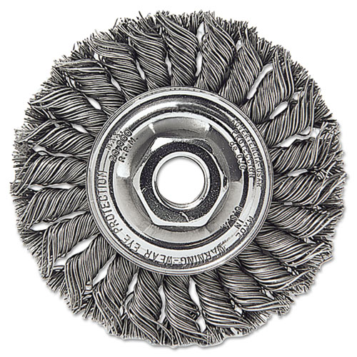 Dualife STA-4 Twist Knot Wire Wheel, 4in. dia, Stainless Steel, .014 Wire 13113